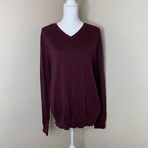 MARC ANTHONY Berkly Red Cashmere Dress Sweater